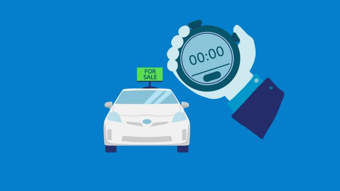 how long to sell a car